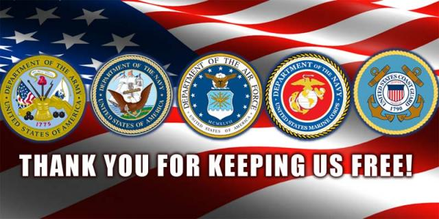 Thank You to all who serve in the Military from Myers RV Center! Ask about our military discounts